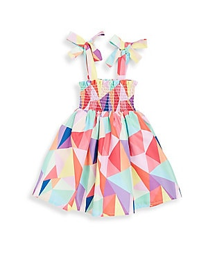 Baby's & Little Girl's Kaleidoscope Smock Dress