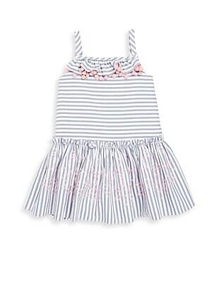 Little Girl's & Girl's Striped Chambray Dress