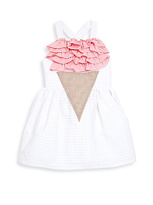 Little Girl's & Girl's Ruffled Ice Cream Dress
