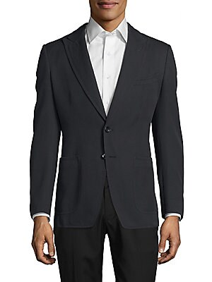 Cotton Peak Lapel Sport Coat