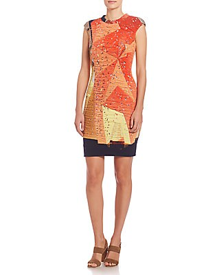 Rock Climbing Wall Print Dress