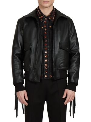 SOLID LEATHER JACKET
