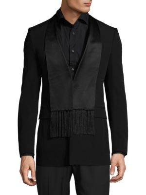 GIVENCHY Buttoned Wool Evening Jacket in Black
