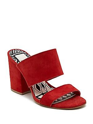 Elize Leather Block Heel Sandals