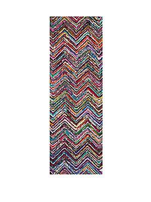 Nantucket Multicolor Herringbone Cotton Rug