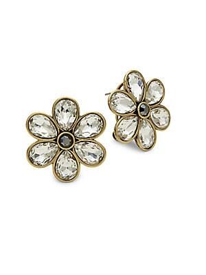 Flower-Shaped Omega-Back Earrings