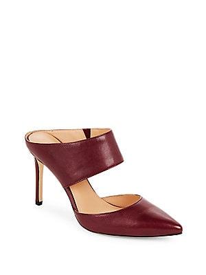 Leather Slip-On Stiletto Pumps