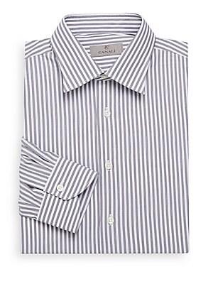 Modern-Fit Striped Dress Shirt
