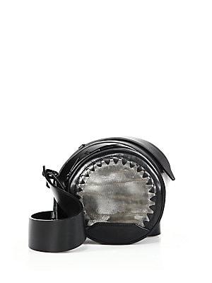 Alix Metallic Leather & Leather Circle Crossbody Bag