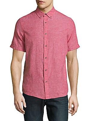 Textured Linen-Cotton Shirt