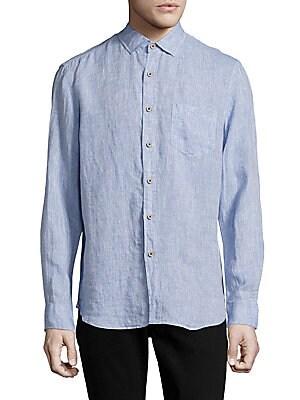 Long-Sleeve Casual Linen Shirt