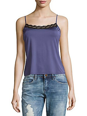 Mercerized Cotton Spaghetti Camisole