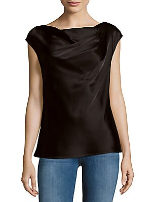 Drape-Front Boatneck Top