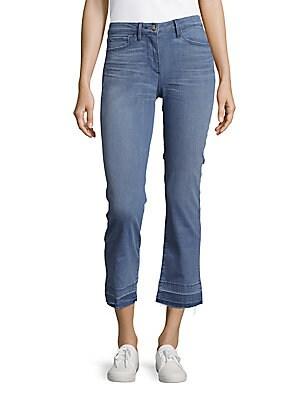 3x1 female cropped frayed hem fivepocket jeans