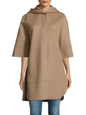 SOLID HOODED CAPE