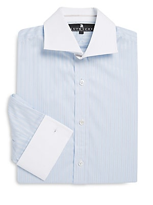 Cutaway-Collar Long-Sleeve Dress Shirt