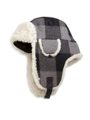 3687be7ff15 CROWN CAP Shearling Trapper Hat