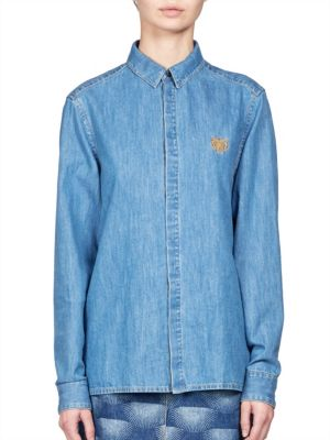 Light Denim Button-Down Shirt KENZO