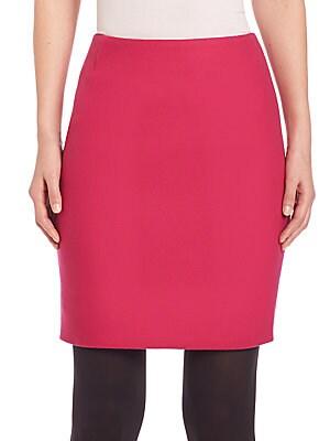Techno Wool Mini Skirt