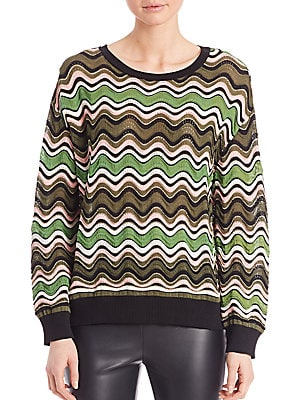Ripple Striped Knit Sweater