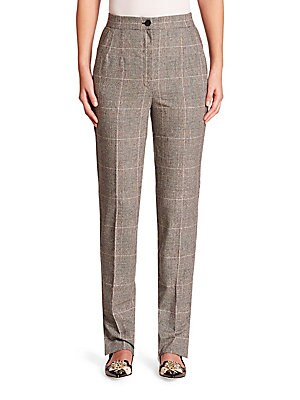 Wool & Silk Slim-Leg Pants