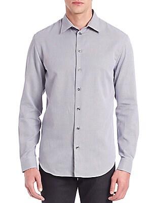 Geometric-Print Cotton Sportshirt