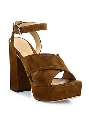 Suzie Suede Crisscross Platform Sandals