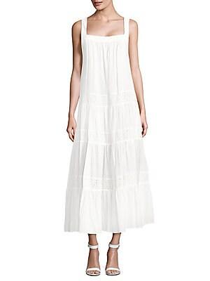 Victoryia Squareneck Cotton Dress