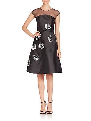 Nina Floral Faux Wrap Dress