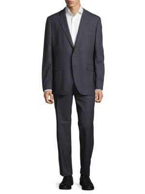 Tartan Designed Wool Suit Boglioli