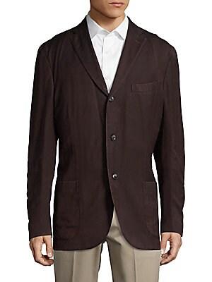 Cordovan Herringbone Wool Coat