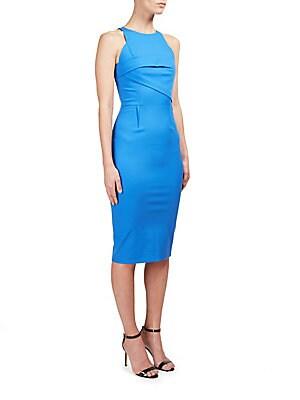 Abersley Stretch Cotton Sheath Dress