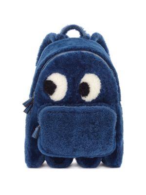 Ghost Mini Shearling Backpack Anya Hindmarch