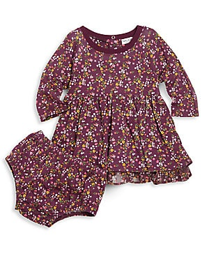 Baby's Floral Long Sleeve Dress & Bloomer Set