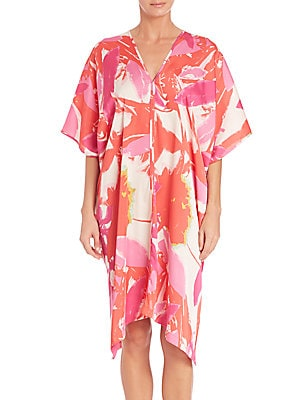 Lucent Palms Short Caftan