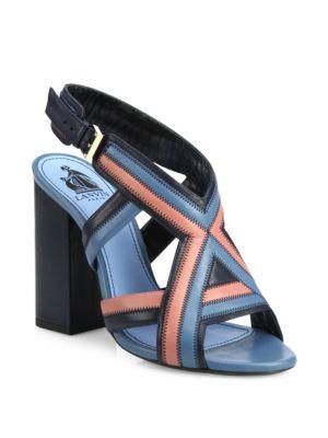 Patchwork Leather Sandals Lanvin