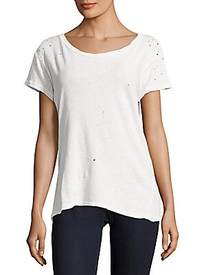 Faux Diamond Embellished Top