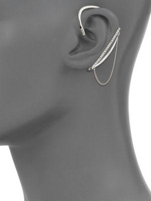 REBECCA MINKOFF Crystal-Encrusted Full Ear Cuff