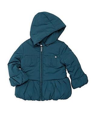 Baby's Peter Pan Collar Hooded Coat