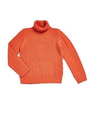 Little Girl's & Girl's Solid Turtleneck Sweater