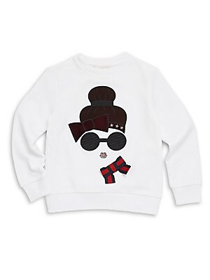 Little Girl's & Girl's Bow Graphic Shirt