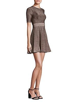 Susana Metallic Fit-&-Flare Dress