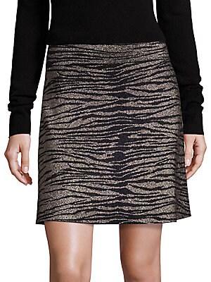 Alonso Metallic Tiger-Print Skirt