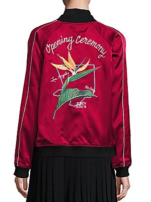 L.A. Reversible Silk Embroidered Varsity Jacket