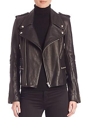 Boxy Leather Moto Jacket