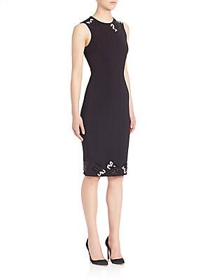 Sequin Rose Appliqué Dress