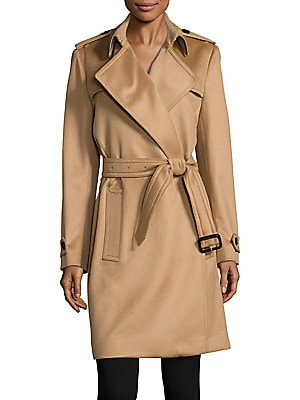 Tempsford Cashmere Wrap Trenchcoat