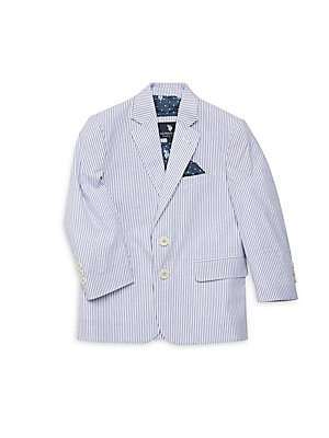 Little Boy's & Boy's Striped Cotton Blazer