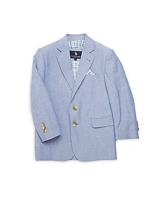 Little Boy's & Boy's Heathered Cotton Blazer