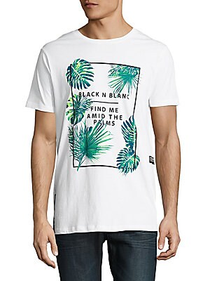 Palm Tree Printed Cotton Tee